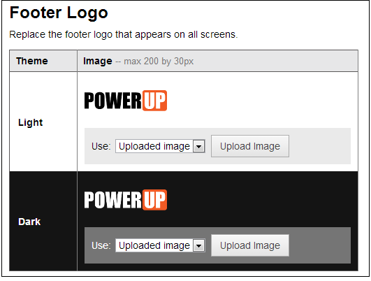 how to change moodle logo in footer