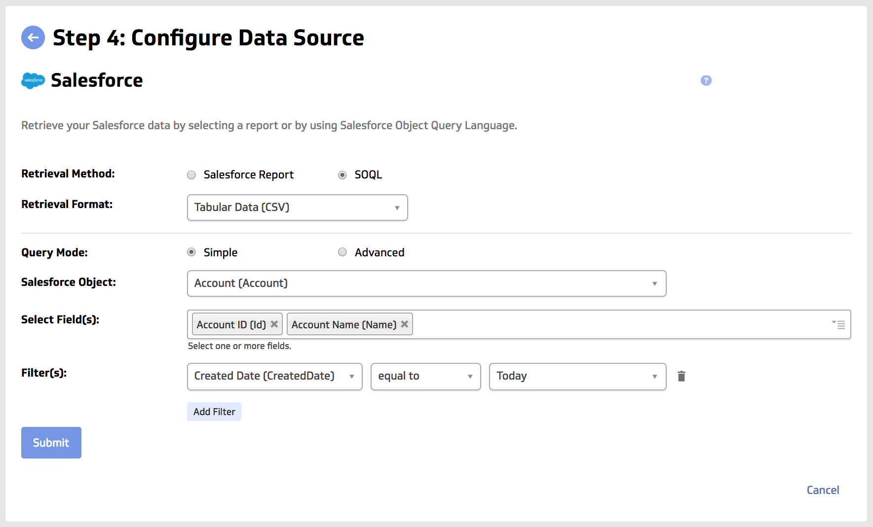 Salesforce Data Connector